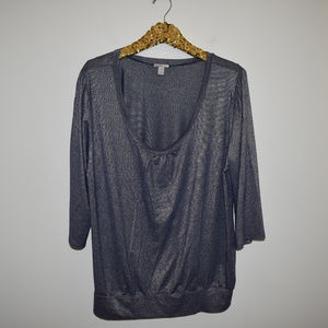 Old Navy Metallic Shirt Tunic Top Size XXL